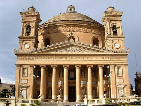 Mosta Dome, Mosta, Malta, Dome, Church