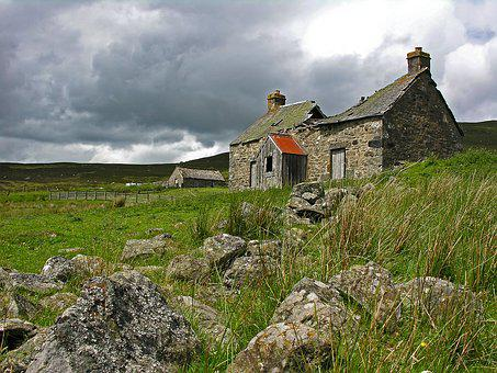Scotland, Cottage, House, Landscape, Scottish, Travel