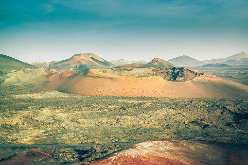 Lanzarote, Fire Mountains, Volcano, Ash, Landscape