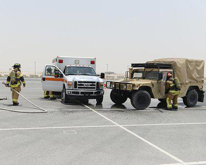 Firefighting, Training, Humvee, Air Force, Base