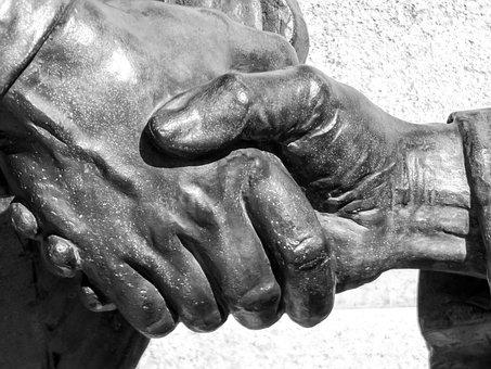 Hand, Statue, Statue Hand, Bronze, Bronze Statue, Plaza