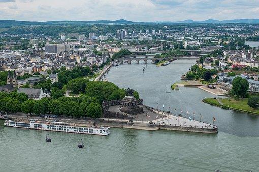 German Corner, Koblenz, Rhine, Sachsen, Mosel, Monument