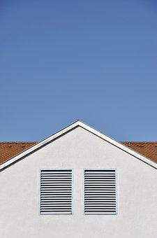 Home, Roof, Sky, Architecture, Red, Blue, White