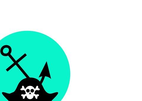 Pirate, Anchor, Piracy, Sea, Symbol, Skull, Hat