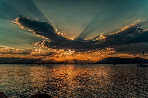 Sunset, Clyde, Sky, Scotland, Sunny, Coastal, Evening