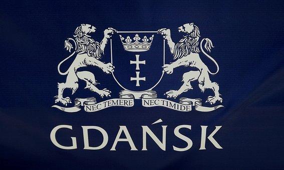 The Emblem Of The City, Gdansk, Color, Blue