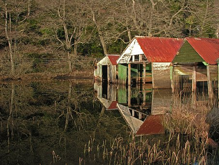 Reflection, Shed, Water, Nature, Boat, Travel, Wooden