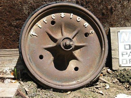 Firestone, Tire, Antique, Rim, Vintage, Old, Rust, Car