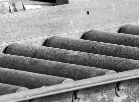 Conveyor Belt, Rust, Old, Conveyor, Industry