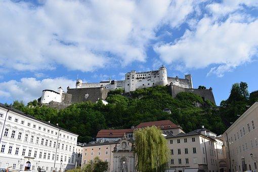 Salzburg, Fortress, Castle, Old Town, Mönchberg