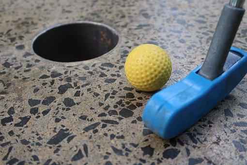 Golf, Miniature Golf, Hole, Golf Ball, Golf Clubs