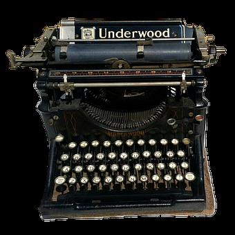 Vintage, Typewriter, Underwood, Antique, Letter