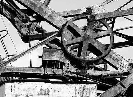 Gear, Crane, Metal, Industrial, Mechanics, Heritage