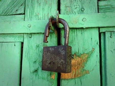 Castle, Open Lock, Padlock, Green, Lock