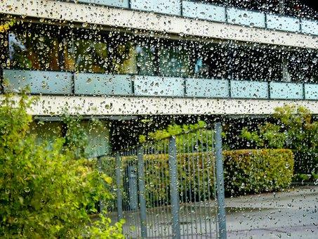 Drop Of Water, Drip, Rain, Building, Architecture, City