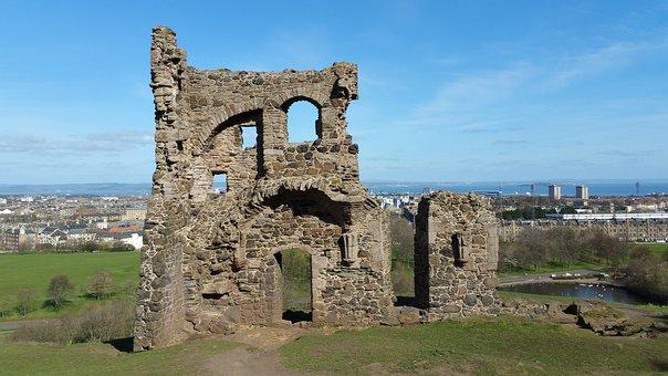 Ruin, Scotland, Castle, Building, Historically