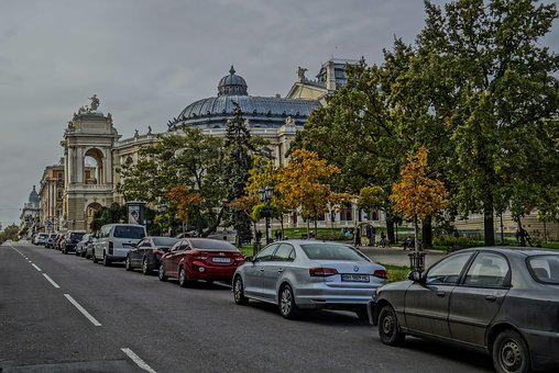 Odessa, Theatre, Street, Machinery