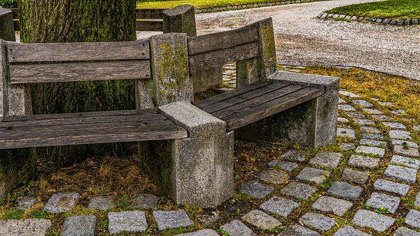 Bank, Tranquility Base, Rest, Wooden Bench, Park Bench