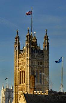Westminster, London, England, Uk, Flag, United Kingdom