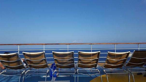 Sea, Sky, Blue Sky, Holiday, Sun Loungers