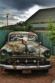 Vintage, Car, Automobile, Automotive, Abandoned