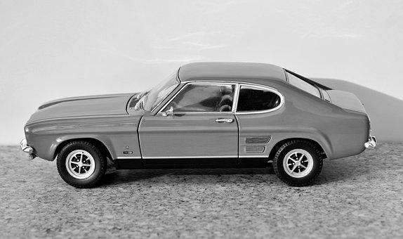 Model Car, Ford, Capri, Model, Auto, Oldtimer, Toys