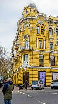 Crossroads, Odessa, Building, Yellow