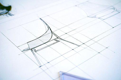 Architectural, Design, Plan, Abstract, Paper, Pencil
