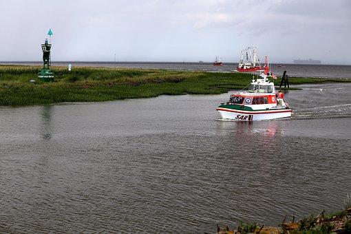 Lifeboat, Sar, Fedderwardersiel, Boat Harbour