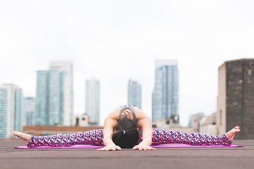 People, Woman, Girl, Yoga, Mat, Meditation, Physical