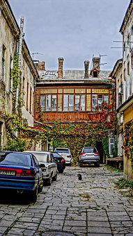 Odessa, Patio, Machinery, Old, House