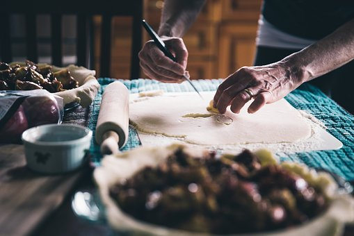 People, Hand, Chef, Kitchen, Rolling Pin, Knife, Dough