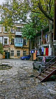 Odessa, Patio, Ladder, Ancient
