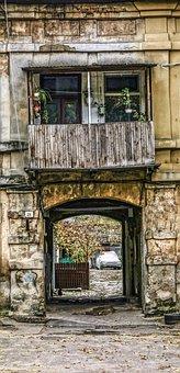 Odessa, Arch, Balcony, Old, House