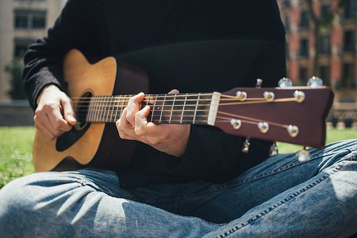 People, Playing, Guitar, Music, Sounds, Strings, Chords