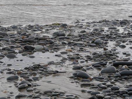 Wales, Beach, Stones, Sand, Water, Summer, Sea