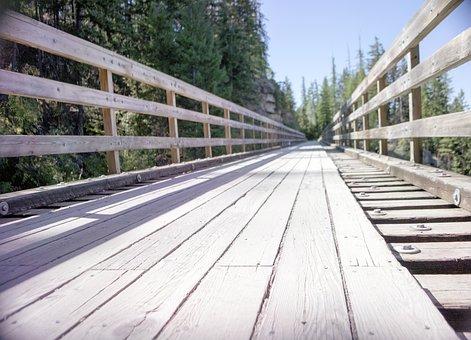 Train, Trestle, Bridge, Wood, Forest, Kettle, Valley