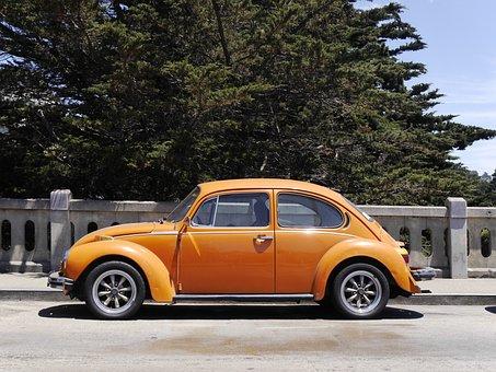 Car, San Francisco, Volkswagen Beetle, Classic Car