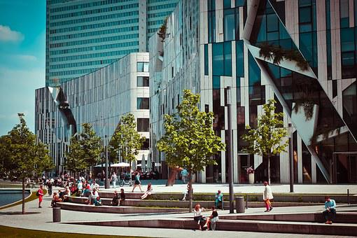 Architecture, Modern, Building, Facade, Glass, Abstract