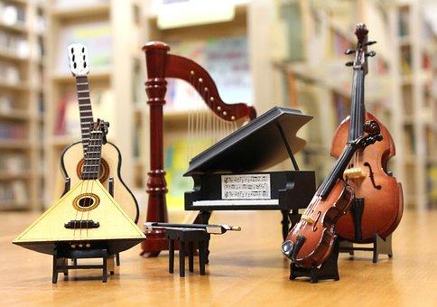 Orchestra, Piano, Violin, Guitar, Balalaika, Harp