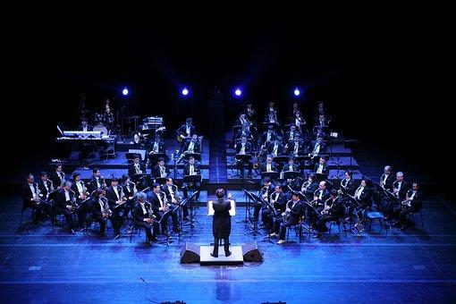 Ensemble, Music, Played, Saxophone, Big Band