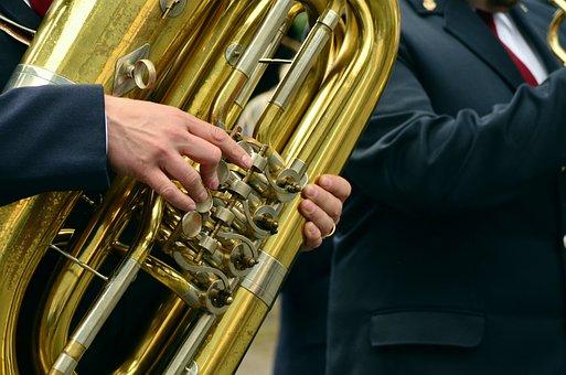 Hands, Musical Instrument, Tuba, Brass Band