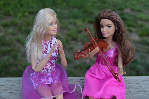 Violin, Barbie, Doll, Music, Playing, Clapping, Toys