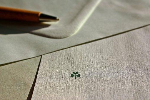 Letters, Leave, Envelope, Luck, Four Leaf Clover