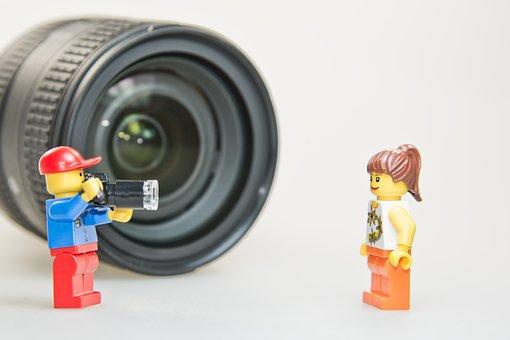 Lens, Photographer, Photo, Photo Studio, Legomaennchen