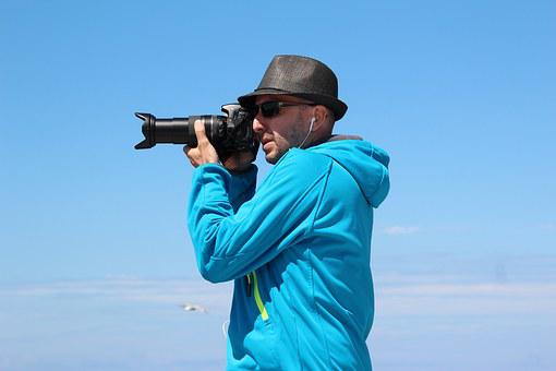 Photographer, Zoom Lens, Canon, Photograph, Camera