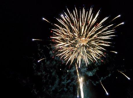 Fireworks, Color, New Year's Eve, Lights, Rocket