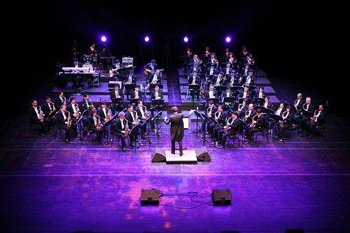 Music, Played, Saxophone, Big Band