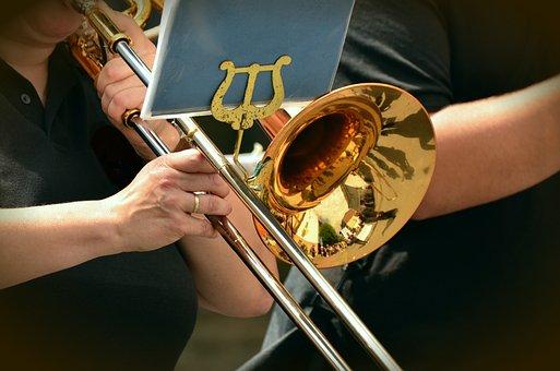 Trumpet, Slide Trumpet, Musical Instrument, Brass Band