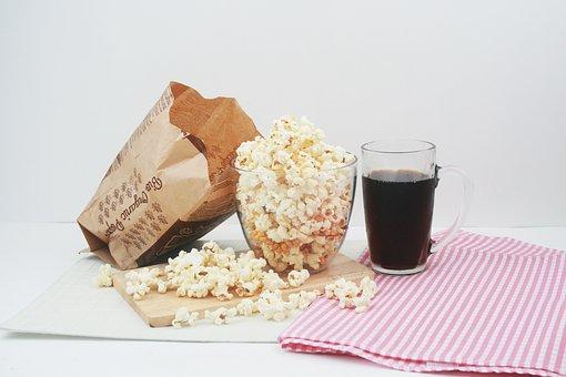Snack, Popcorn, Cola, Corn